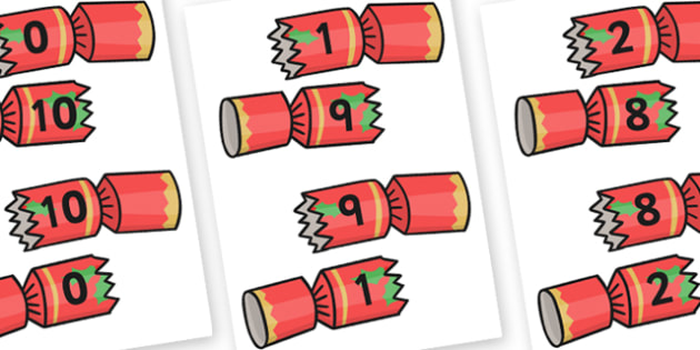 Christmas Number Bonds to 10 on Crackers Activity - christmas