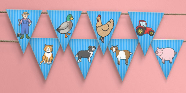 Farmer and Duck Display Bunting - farmer duck, display bunting, bunting for display, themed bunting, bunting, bunting for display, classroom display, display