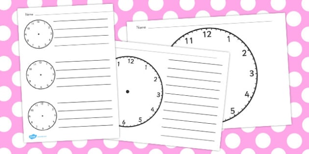 Clock Templates  Australia Clock Blank Template Time