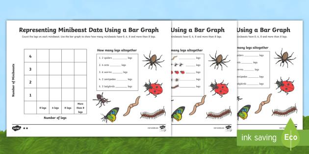 Minibeast Bar Graph Activity Sheet - World Around Us Resources