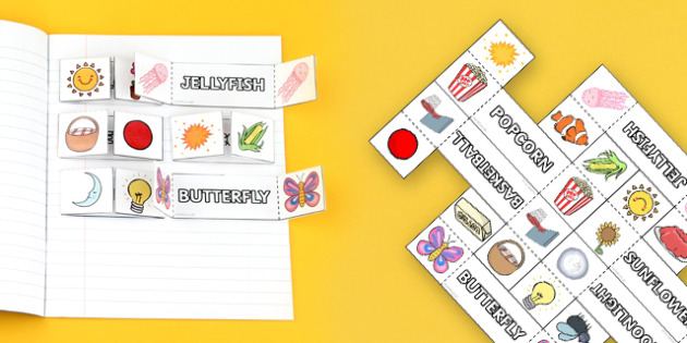 Compound Words Interactive Visual Aid Template Compound