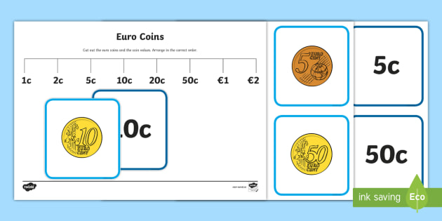 First Class Coin and Coin Values Sorting Cards