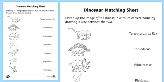 realistic dinosaurs matching sheet realistic dinosaurs matching sheet. Black Bedroom Furniture Sets. Home Design Ideas