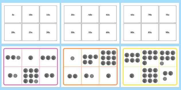 photo about Money Bingo Printable referred to as Australian Cash Bingo 5c and 10c Bingo - Financial, cash