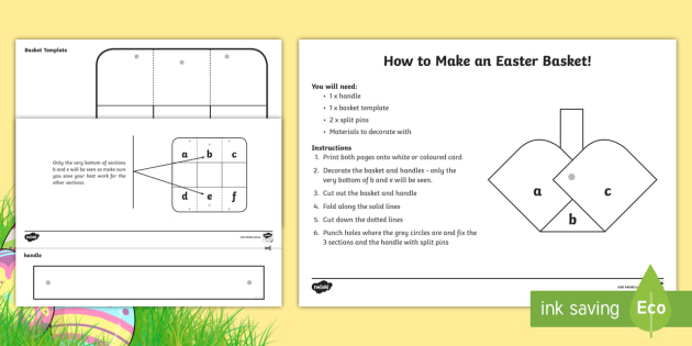 Basket template easter easter crafts easter games easter basket template easter easter crafts easter games negle Choice Image