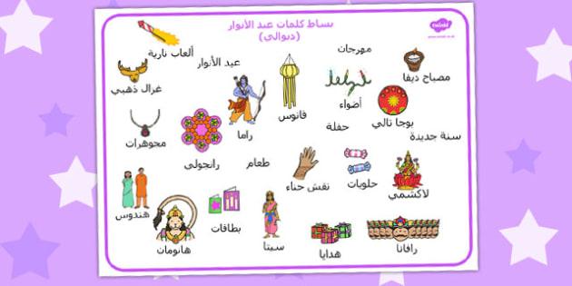 بساط كلمات ديوالي (عيد الأنوار) - الهندوسية، وسائل تعليمية
