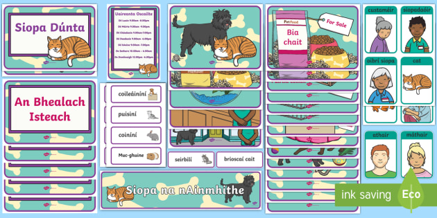 Aistear Pack Pet Shop Gaeilge Display Pack