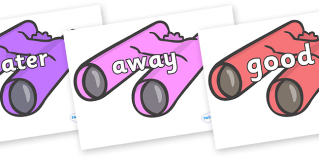 Next 200 Common Words on Binoculars - Next 200 Common Words on  - DfES Letters and Sounds, Letters and Sounds, Letters and sounds words, Common words, 200 common words