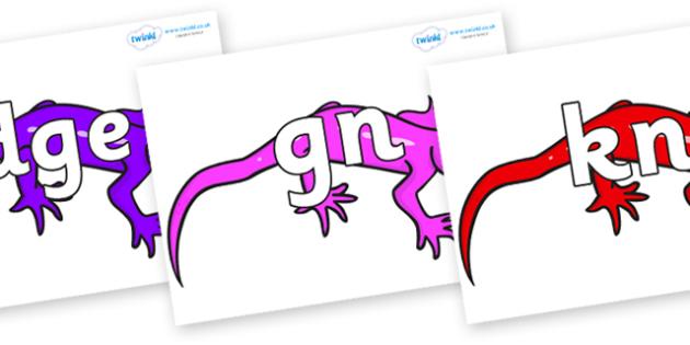 Silent Letters on Geckos - Silent Letters, silent letter, letter blend, consonant, consonants, digraph, trigraph, A-Z letters, literacy, alphabet, letters, alternative sounds