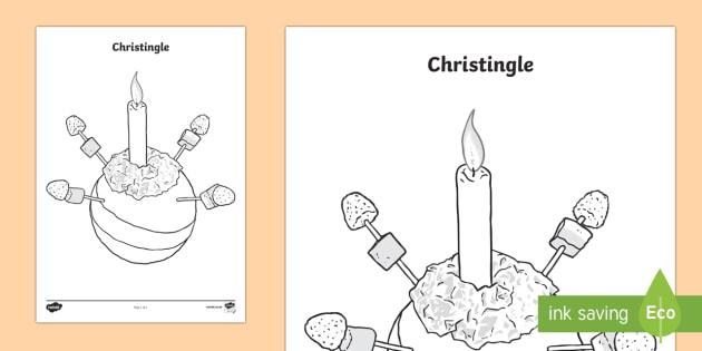Christingle Colouring Page - Christingle, christmas, decoration, colouring, wet playtime, wet play, KS1, EYFS, fine motor skils,