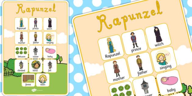 Rapunzel Vocabulary Poster - vocabulary poster, rapunzel, display