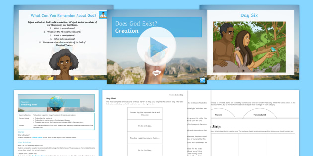 Creation Lesson Pack - Does God Exist; Creation; Genesis; Bible; Torah;