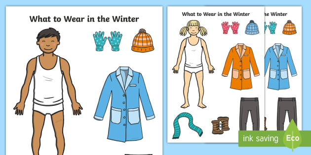 NEW * What to Wear in Winter Cut-Out Activity Sheets - Winter