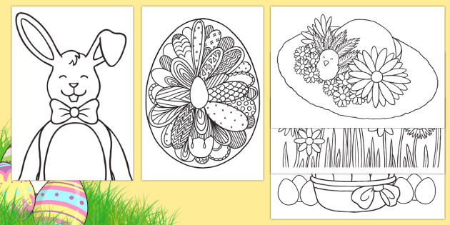 Extra Large Easter Colouring Pages Easter Activities Colouring