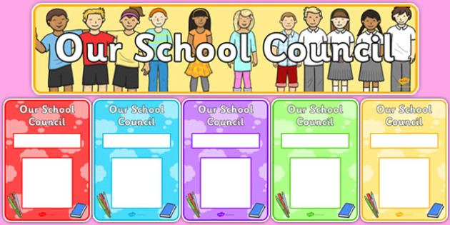 School Council Display Pack - School council, council, council members, member name, member, class council, display pack, poster, display, display banner