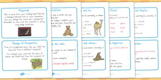 Literacy Challenge Cards - australia, literacy, challenge, cards