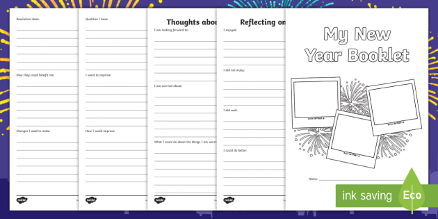 KS2 New Year Activity Booklet - KS2 New Year activity, New Year writing, KS2 New Year, resolutions, changes, KS2 resolutions.