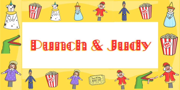 Punch and Judy Display Borders - puppets, stories, header, border