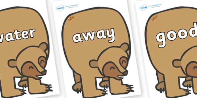 Next 200 Common Words on Brown Bear to Support Teaching on Brown Bear, Brown Bear - Next 200 Common Words on  - DfES Letters and Sounds, Letters and Sounds, Letters and sounds words, Common words, 200 common words