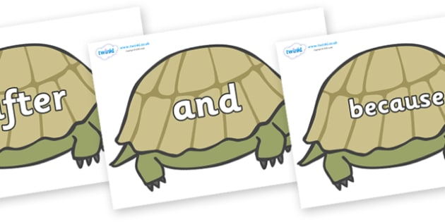 Connectives on Tortoises - Connectives, VCOP, connective resources, connectives display words, connective displays