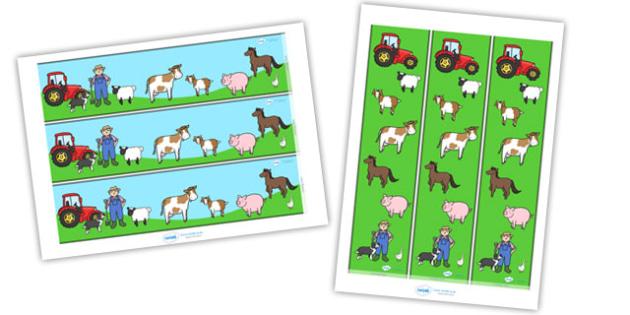 Farm Display Borders - Farm, Display border, border, display, shop, farm, pig, cow, chicken, goat, tractor, farmer, chicken, goat, sheep, hay, milk, eggs