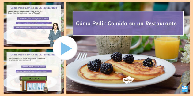 How To Order In A Restaurant Powerpoint Spanish Food Drinks