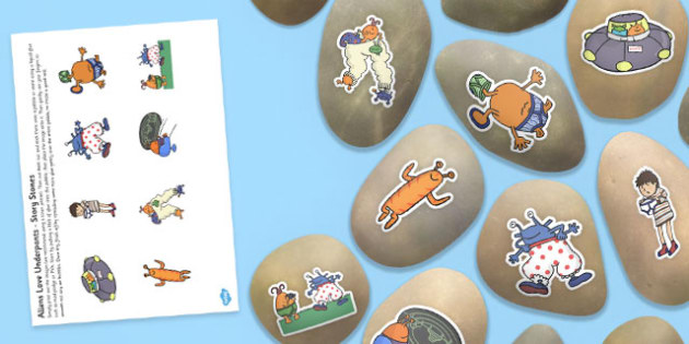 Story Stones to Support Teaching on Aliens Love Underpants - alien, pebbles, stories
