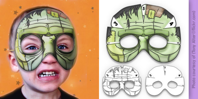 3D Halloween Frankenstein Monster Mask - 3d, halloween, frankenstein, monster, mask