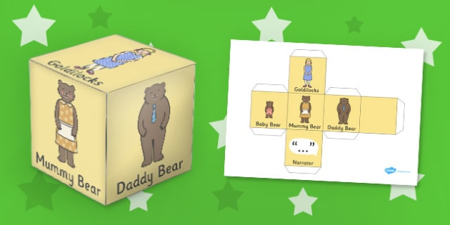 Goldilocks and the Three Bears Role Play Dice - role-play, dice