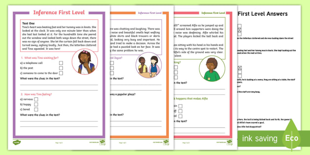 Cfe First Level Inference Worksheet Activity Sheet Cfe First Level