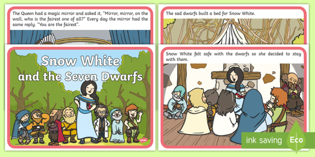 Snow White and the Seven Dwarfs Story Sequencing - Snow White and