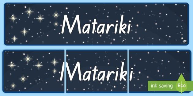 new matariki seven stars display banner matariki seven stars maori new