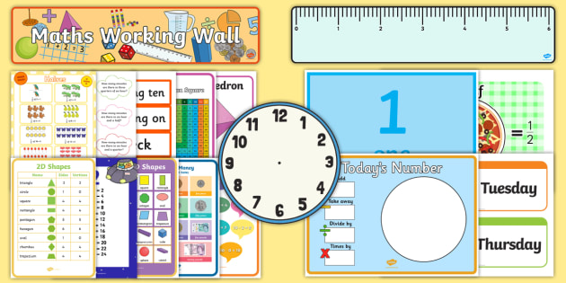 Year 2 Maths Working Wall Pack - display, prompt, challenge