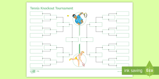 NEW * Tennis Knockout Tournament Planning Template - Summer