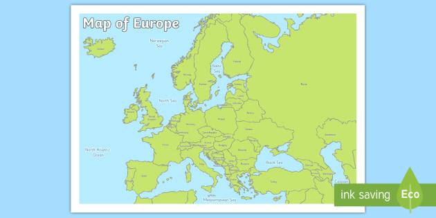 Map of Europe - map, europe, map of europe, geography ...