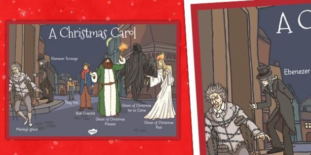 A Christmas Carol Large Display Poster - christmas carol, display, scrooge, Charles Dickens