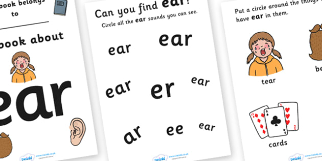 My Phase 3 Trigraph Workbook (ear) - Digraph Formation, Phase 3, phase three, digraphs, handwriting, letter formation, writing practice, foundation, letters, writing, learning to write, DFES letters and sounds