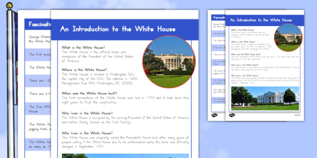 An Introduction to the White House Fact File