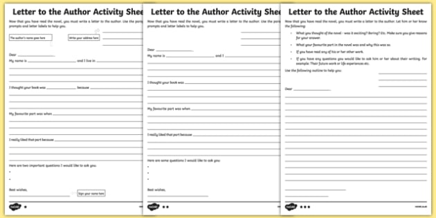 Letter to the Author Differentiated Activity Sheet Pack-Irish, worksheet