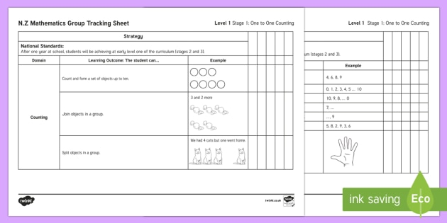 NZ Mathematics Group Tracking  Stage 1 Checklist - New Zealand Planning and Assessment, numeracy, basic facts, strategy, addition, subtraction, multipl