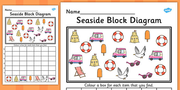 seaside block diagram activity worksheet sea, bar graph fpga block diagram block diagram ks1 #6