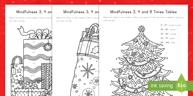 Christmas Multiplication Table Coloring Activity ...