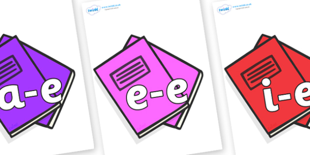 Modifying E Letters on Exercise Books - Modifying E, letters, modify, Phase 5, Phase five, alternative spellings for phonemes, DfES letters and Sounds
