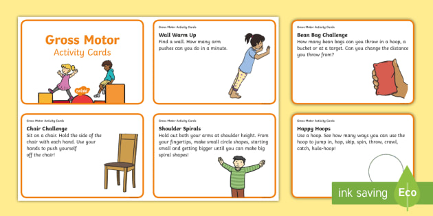 Gross Motor Activity Cards - Newell Handwriting Project, Handwriting, Letter formation, Pre-Handwriting skills, Gross Motor skill