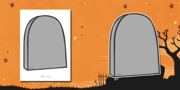 Editable Halloween Grave Stones (A4) - Editable Halloween Grave Stones, grave stones, A4, display, poster, Halloween, pumpkin, witch, bat, scary, black cat, mummy, grave stone, cauldron, broomstick, haunted house, potion, Hallowe'en