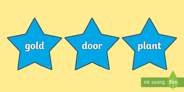 Year 2 Common Exception Words on Stars - year 2, common exception words, stars, display]