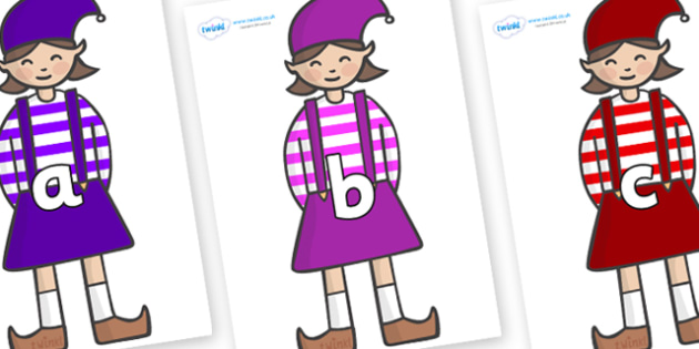 Phase 2 Phonemes on Elf (Girl) - Phonemes, phoneme, Phase 2, Phase two, Foundation, Literacy, Letters and Sounds, DfES, display