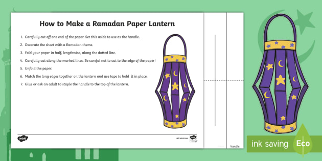 Ramadan Lantern Paper Craft Re Resource Twinkl