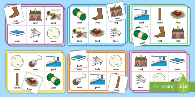 Phase 3 'oo' Sound Phonics Bingo Game - Phonics Resource ...