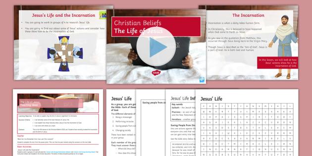 Jesus' Life Lesson Pack - Christianity; Jesus; Miracles; Gospel; Incarnation